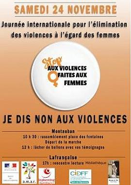 CIDFF82 - journée internationale pour l'élimination de la violence à l'égard des femmes @Prefet_82