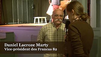 Daniel Laroze Marty, Vice-président des Francas 82 au micro de l'association TvLocale