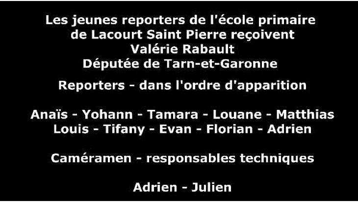 Les élèves de l'école de Lacourt-Saint-Pierre ont interviewé la députée @Valerie_Rabault