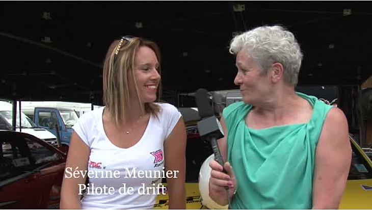 Séverine Meunier, seule femme pilote du Championnat de France de Drift, était à l'Anneau du Rhin