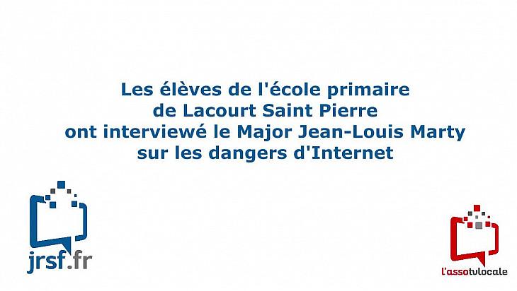 Les élèves de l'école primaire de Lacourt Saint Pierre ont interviewé le Major Jean-Louis Marty sur les dangers d'Internet @tvlocale_fr @Gendarmerie