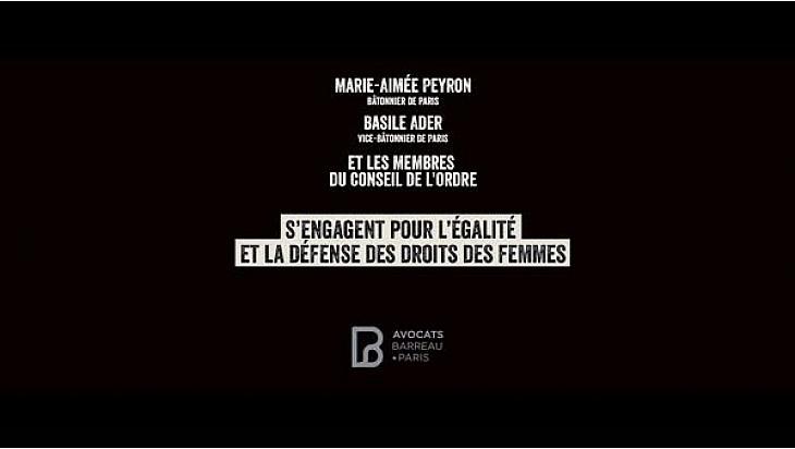 Droits des Femmes : une vidéo percutante du Barreau de Paris / Ordre des avocats de Paris #JournéeDesDroitsDesFemmes