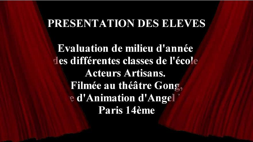 École Acteurs Artisans : Classe d'Elodie Chanut et de Françoise Viallon