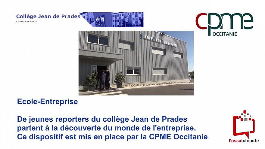 @CPMEoccitanie - des Jeunes du collège Jean de Prades de Castelsarrasin visitent Saint Jean Transports  à Montbartier - 82